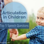 Early Intervention Speech Therapy Ideas | Articluation Questions