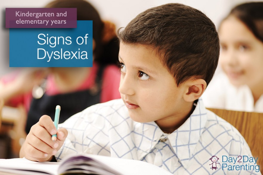 signs of dyslexia in kindergarten