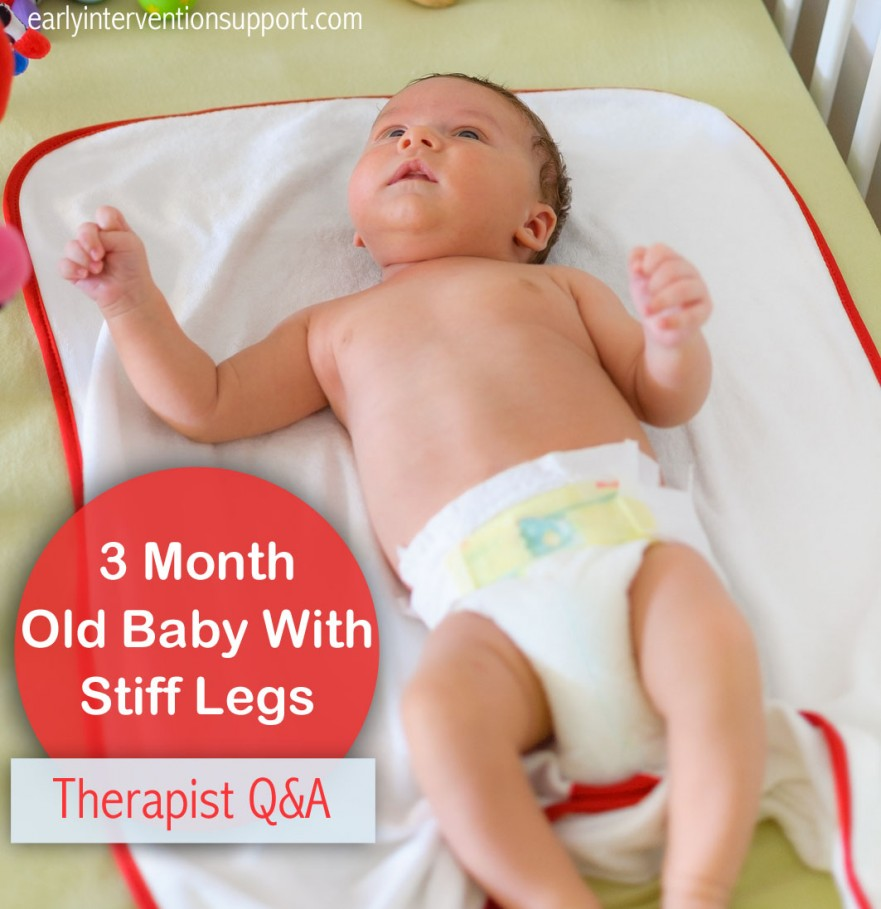 3 month old baby with stiff legs