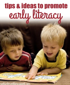 tips to promote early literacy