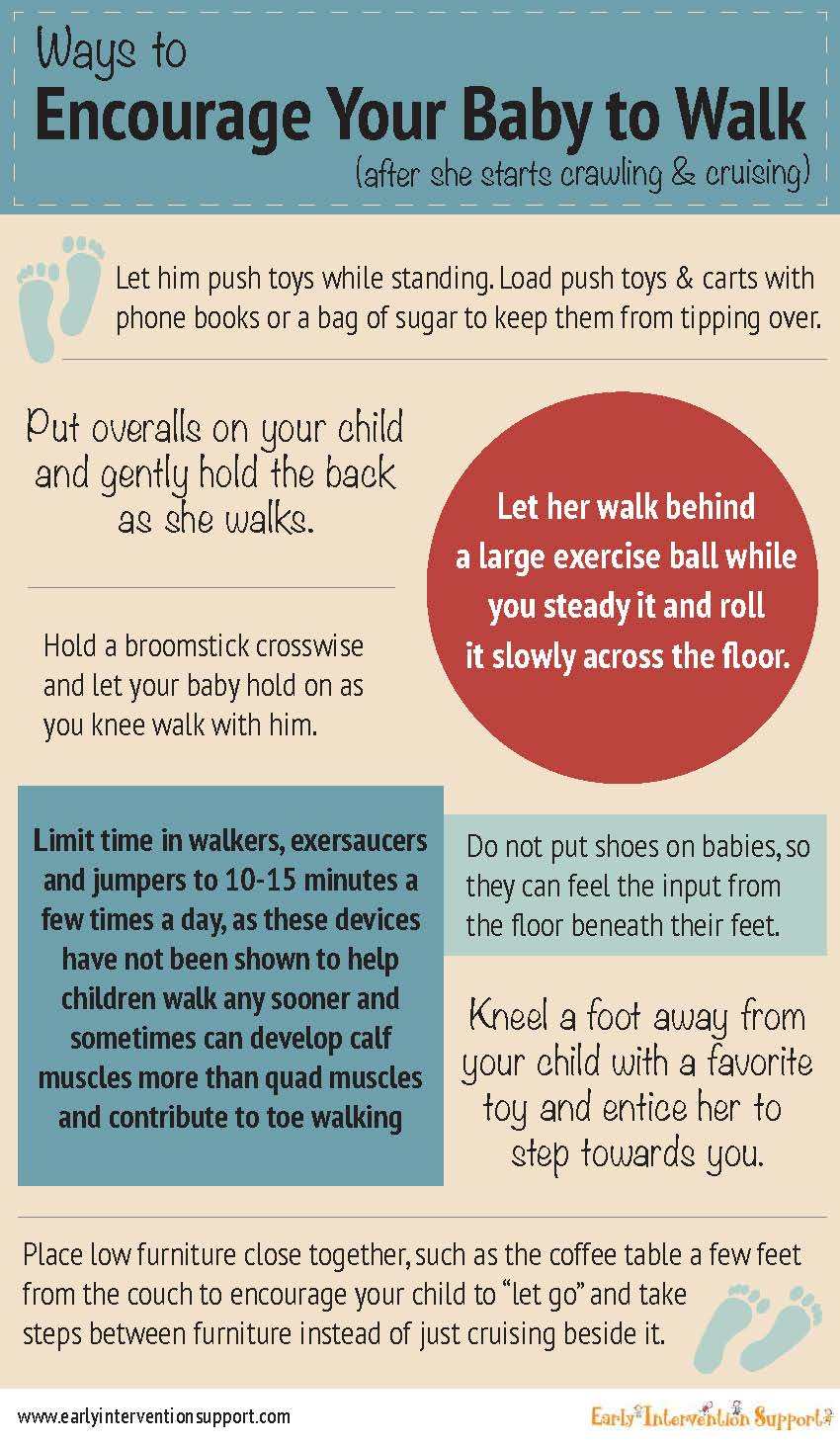 encourage baby to walk info graphic