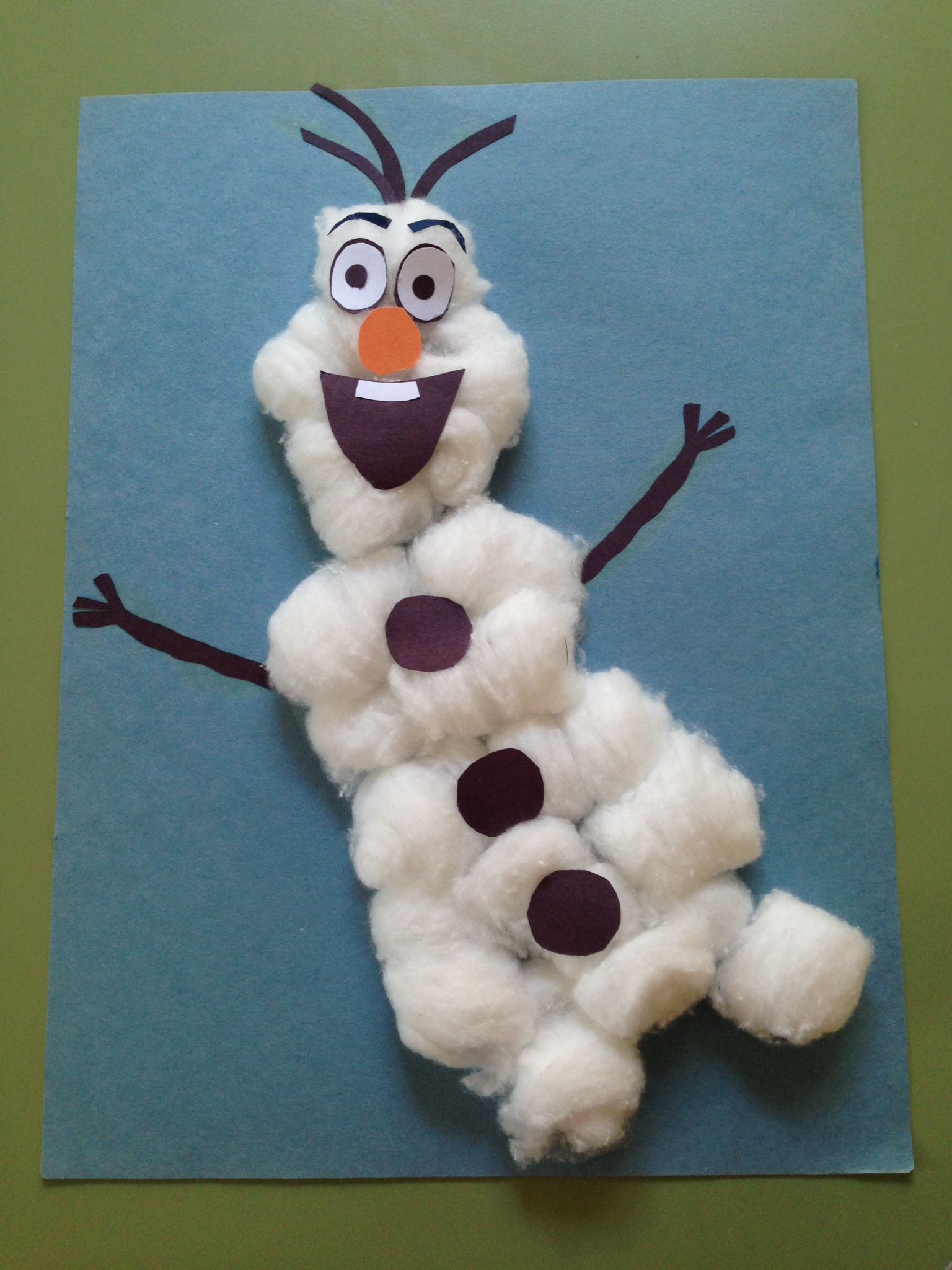 cotton ball snowman 5 winter crafts for toddlers early intervention support 1362