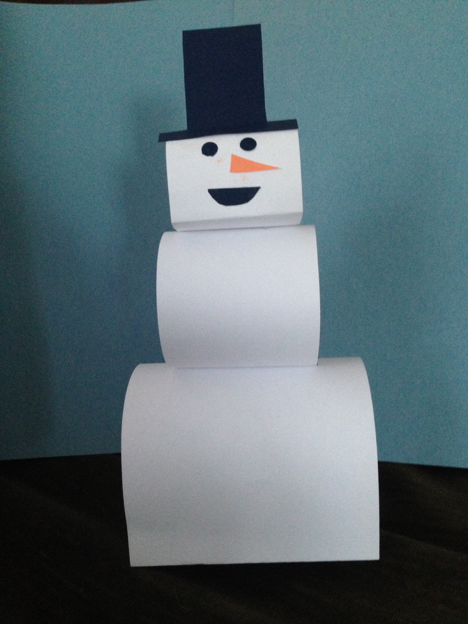 Construction strip snowman