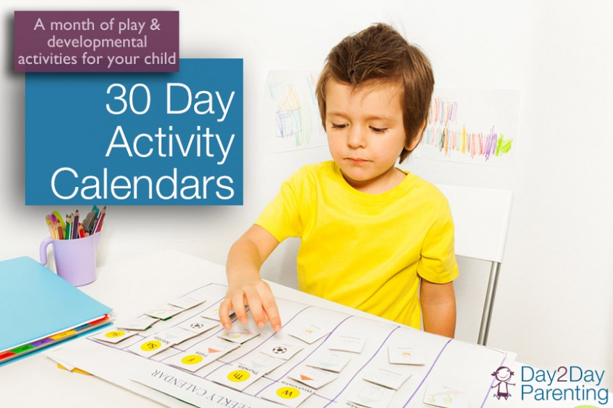 30 day activity calendar for children