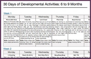 30 day activity calendar for kids
